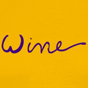 WINE art logo PAARS - Men's Premium T-Shirt