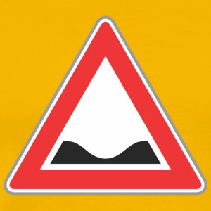 Road Sign ned rød trekant - Herre premium T-shirt