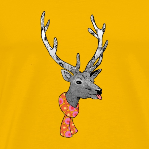 renne coquet de Noël - T-shirt Premium Homme