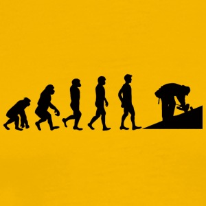 Dakdekkers: Evolution of dakdekker - Mannen Premium T-shirt