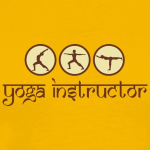 Instructeur van de yoga - Mannen Premium T-shirt