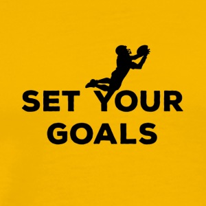 Football: Set your Goals - Men's Premium T-Shirt