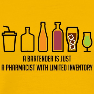 Pharmazie / Apotheker: A Bartender Is Just A - Männer Premium T-Shirt