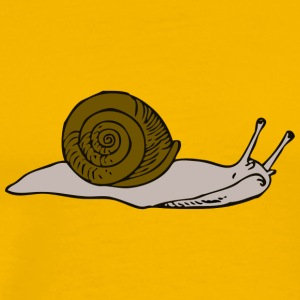 Brown snail - Männer Premium T-Shirt