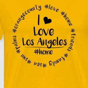 Jeg elsker Los Angeles - Orange County - Premium T-skjorte for menn
