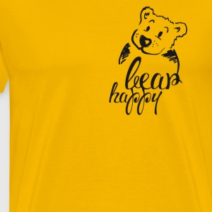 Teddy Bear Illustration cute happy cool friend 1 - Men's Premium T-Shirt