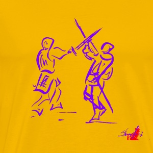 PURPLE SWORD - Mannen Premium T-shirt