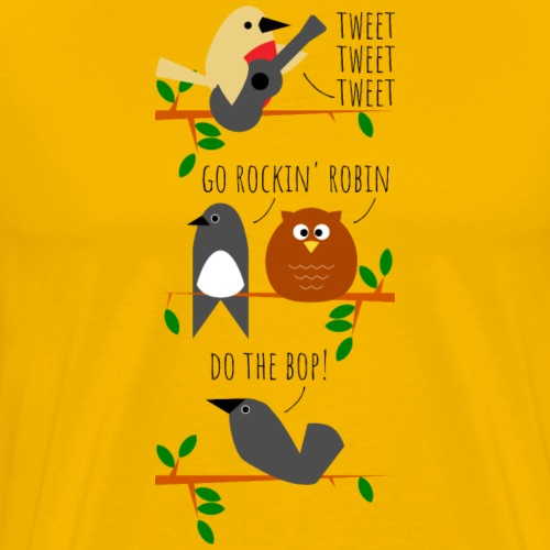 Rockin 'Robin (digital print) - Men's Premium T-Shirt
