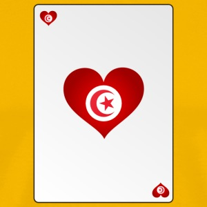 Playing Card Tunisia Heart Ass Heart - Men's Premium T-Shirt