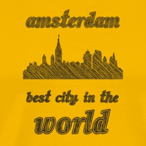 aMSTERDAM Best city in the world - Men's Premium T-Shirt