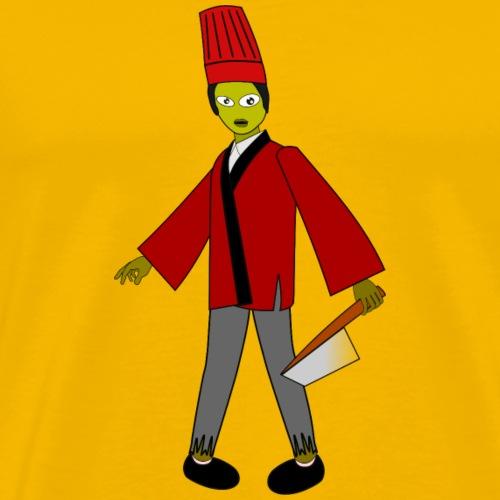 zombie cocinero - Camiseta premium hombre