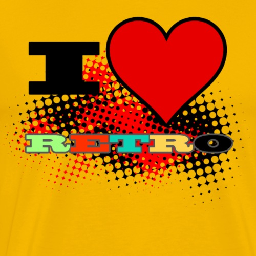I love Retro - Mannen Premium T-shirt