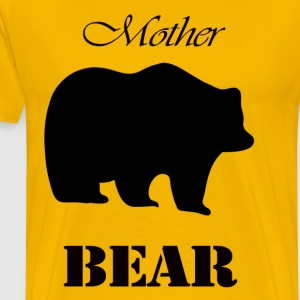 Mors dag Gift och T-shirt: Mother Bear - Premium-T-shirt herr