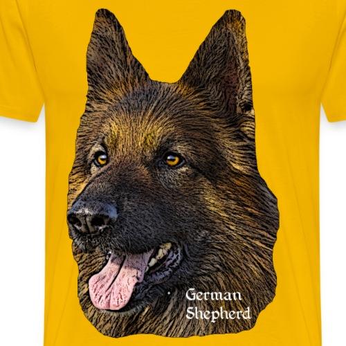 Schäferhund,Hundekopf,Deutscher Schäferhund,Hunde, - Männer Premium T-Shirt