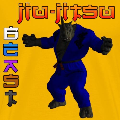 JIU-JITSU BEAST RHINO - Men's Premium T-Shirt