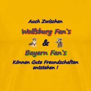 Friendlies Wolfsburg Bayern fans - Men's Premium T-Shirt