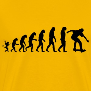 Skater evolution - Herre premium T-shirt