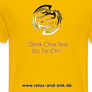 Drink Chai Tea, do Tai Chi - Männer Premium T-Shirt