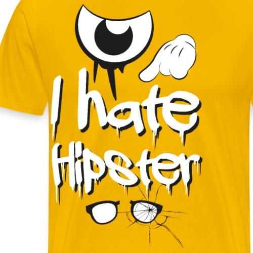 I hate hipster - Männer Premium T-Shirt