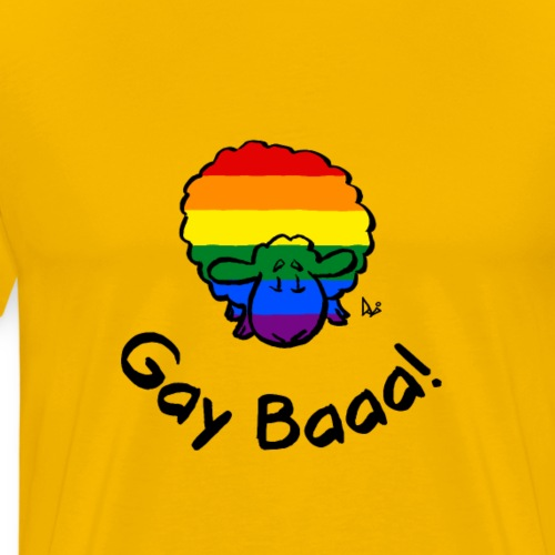 Gay Baaa! Rainbow Pride Sheep - Herre premium T-shirt