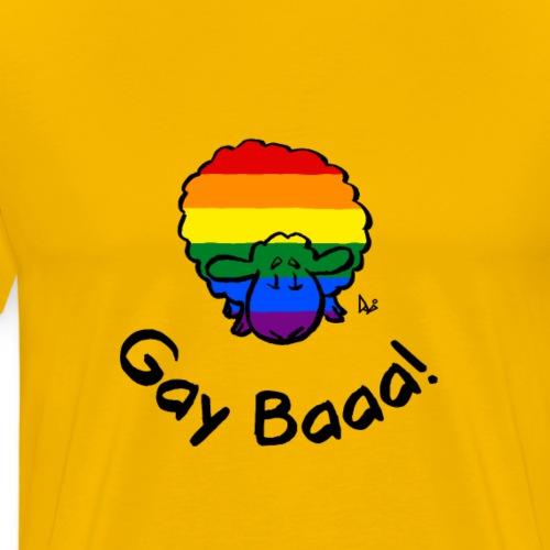 Gay Baaa! Rainbow Pride Sheep - Premium-T-shirt herr