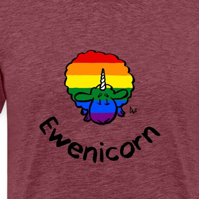 Rainbow Ewenicorn - it's a unicorn sheep! (text)