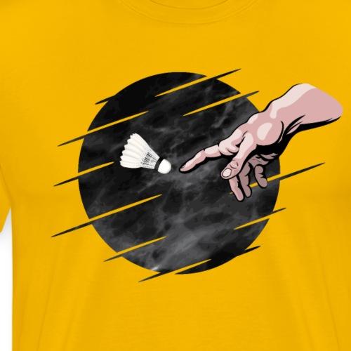 Badminton is divine! - Black design - Men's Premium T-Shirt