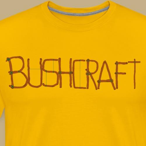 Bushcraft Craft Font - Männer Premium T-Shirt