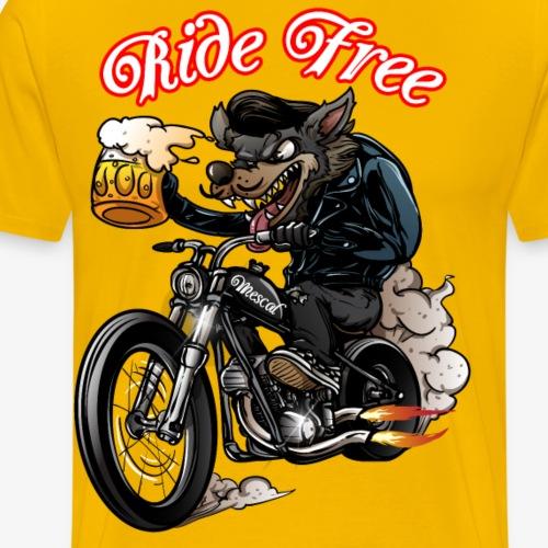 Lupo motociclista - Biker Wolf by Mescal - Maglietta Premium da uomo
