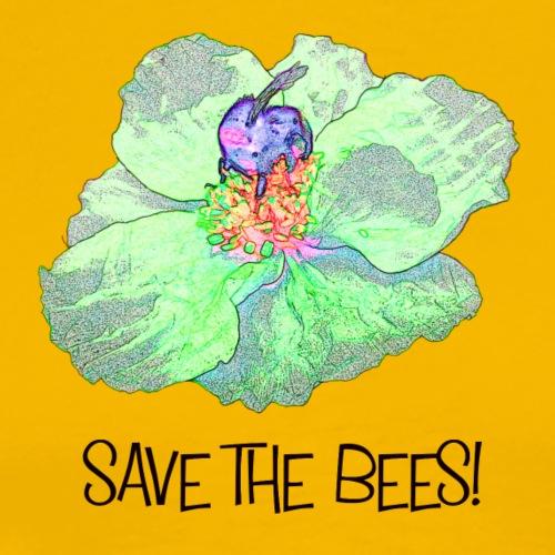 Save the bees Biene Mohn Natur - Männer Premium T-Shirt