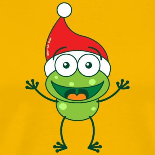Christmas frog wearing Santa hat - Men's Premium T-Shirt
