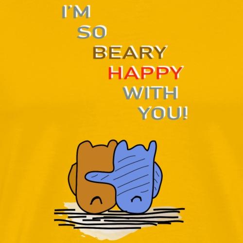 Happy Bear - Glücklicher Bär - Männer Premium T-Shirt