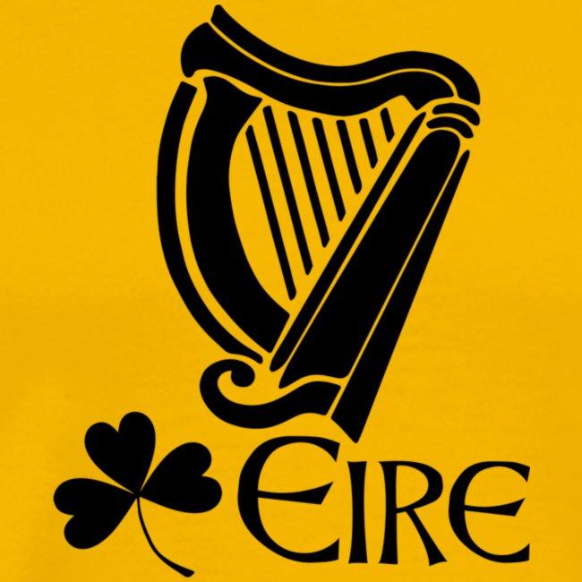 Irish Harp and Shamrock