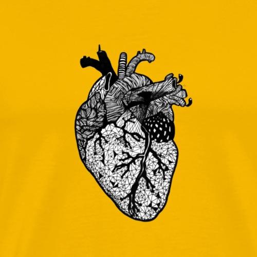 Herz, Anatomie, Zentangle - Männer Premium T-Shirt