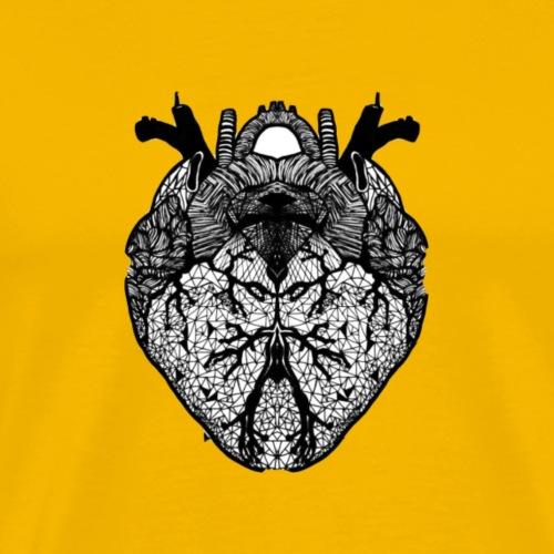 Illusion, Herz, Anatomie - Männer Premium T-Shirt