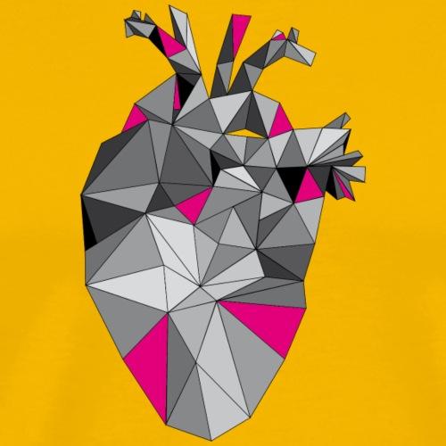 Graphic Heart with Pink - Männer Premium T-Shirt