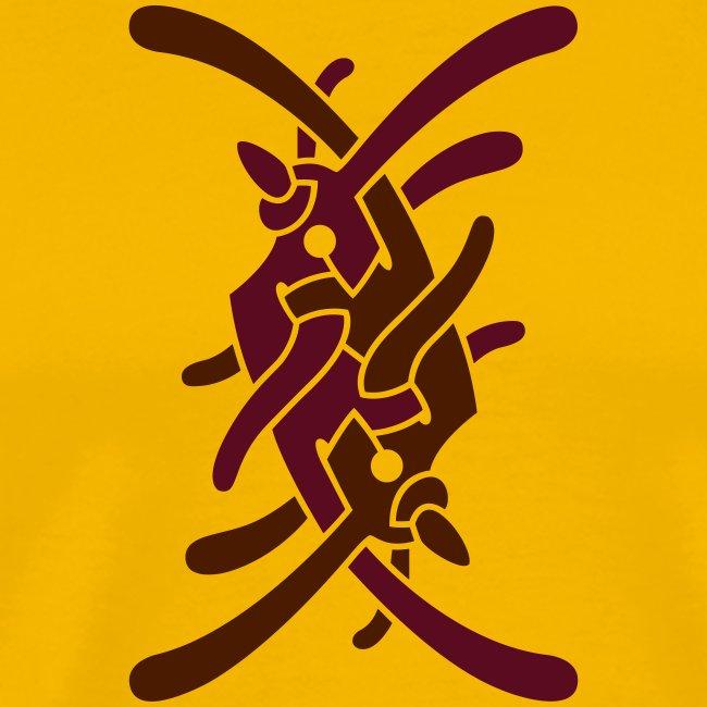 Stort logo på ryg