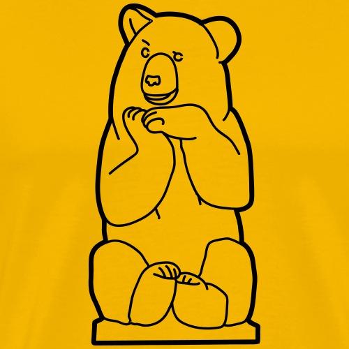 Ours de Berlin, assis - T-shirt Premium Homme