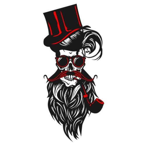 tete de mort crane hipster barbu barbe moustache p - T-shirt Premium Homme