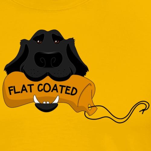 Flat Coated - Maglietta Premium da uomo