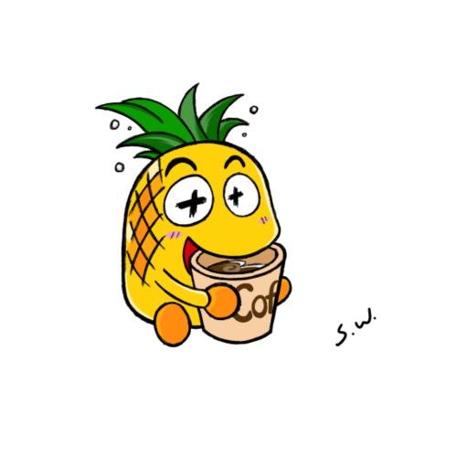 Pineapple - Premium-T-shirt herr