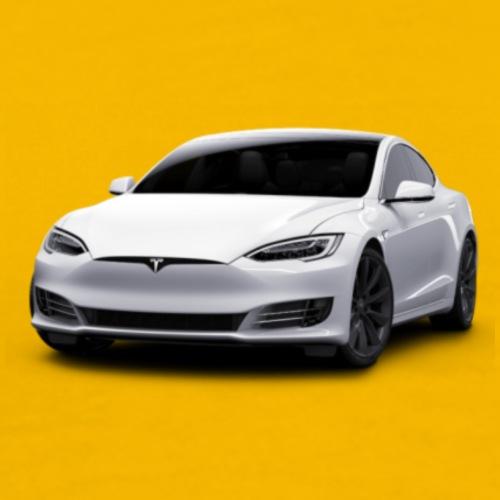Tesla Model S - white - Premium T-skjorte for menn