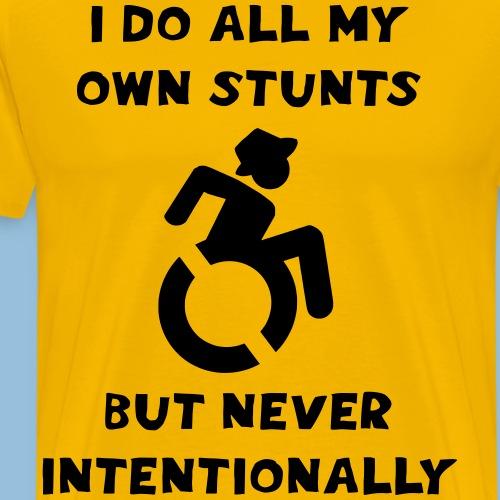 I do all my own stunts 002 - Mannen Premium T-shirt