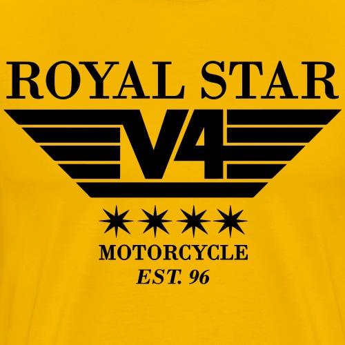 Royal Star V4 Wings Logo - Männer Premium T-Shirt