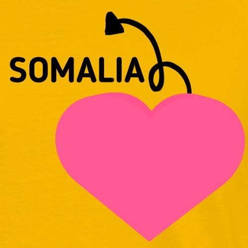 love somalia - Premium T-skjorte for menn