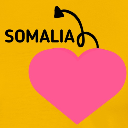 love somalia - Premium T-skjorte for menn