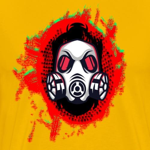 Urbaner Comic Held - Lustiger Fictional Kopf - Männer Premium T-Shirt