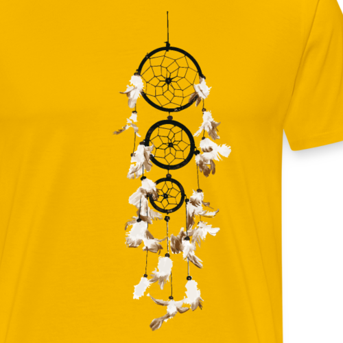 Traumfänger Federn dreifach Geschenk Talisman - Männer Premium T-Shirt
