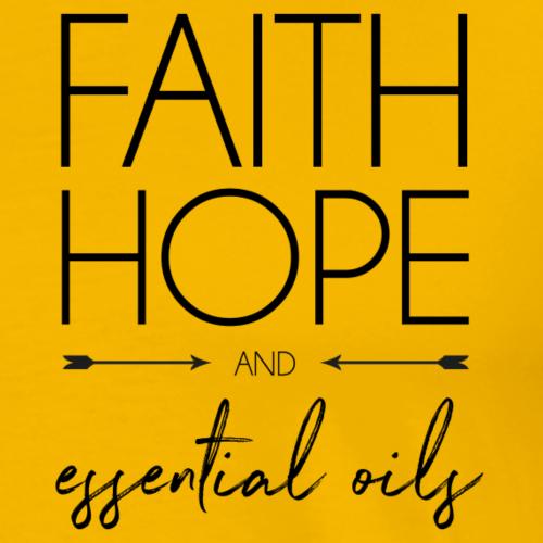 faithHOPEeos - Mannen Premium T-shirt