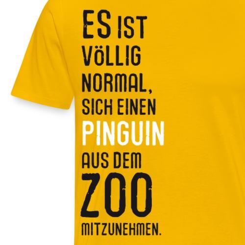 Pinguin aus dem Zoo Vogel Kuscheltier Antarktis - Men's Premium T-Shirt
